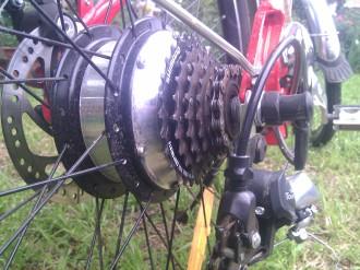 Image of electric bike hub motor
